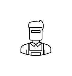 avatar welder outline icon signs and symbols can vector image