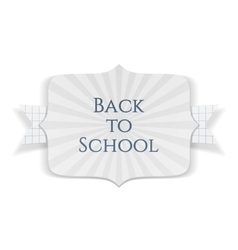 Back to School realistic Banner with Ribbon vector