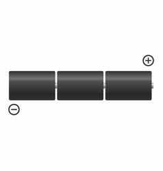 batteries in series vector image