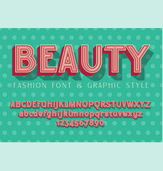beauty fashion and wedding font vector image