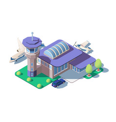 big modern airport vector image