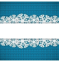 Blue knitted background vector image