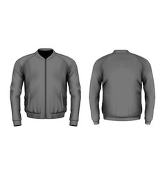 Bomber jacket in black vector