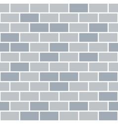 Brick wall seamless pattern grey background vector