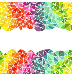 Bright triangles low poly borders vector image