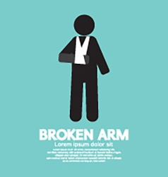 Broken Arm Graphic Symbol vector