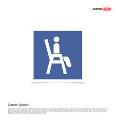 Chair icon - blue photo frame vector