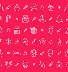 Christmas celebration seamless pattern vector
