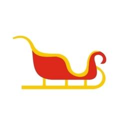 Christmas sleigh flat icon vector