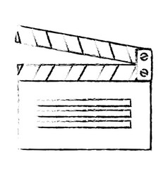 Clapperboard cinema isolated icon vector