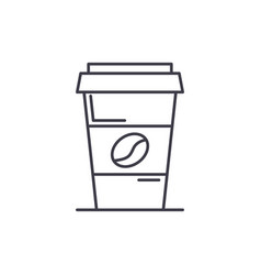coffee to go line icon concept coffee to go vector image