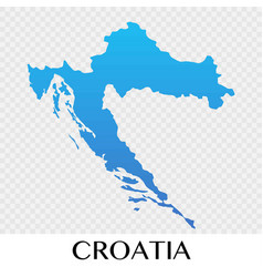 croatia map in europe continent design vector image