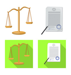 Design law and lawyer icon set law vector