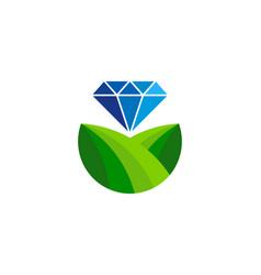 diamond farm logo icon design vector image