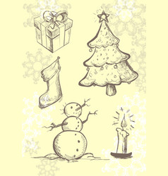 doodle sketch on christmas theme vector image