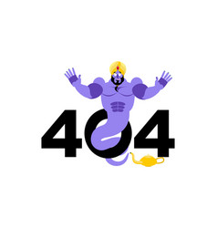 error 404 genie surprise page not found template vector image