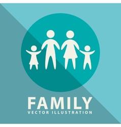Family label design vector