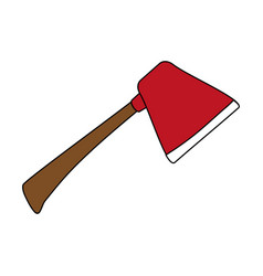 Firefigther axe tool vector