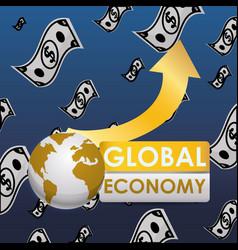 Global money economy vector