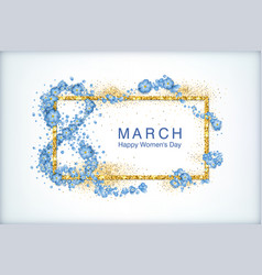Greeting card on march 8 vector