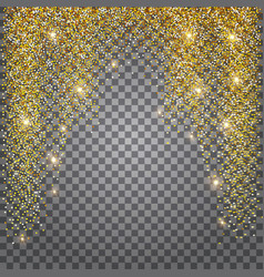 Greeting card shimmer golden background vector