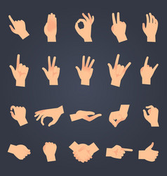hand position set female or male hands holding vector image