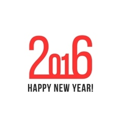 happy new year with red numbers vector image
