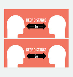 Keep distance attention message sign template vector