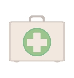 Kit first aid in box icon vector