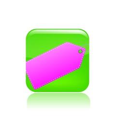Label icon vector