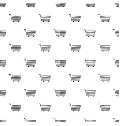 Large empty supermarket cart pattern vector