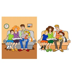 Married couple with children vector