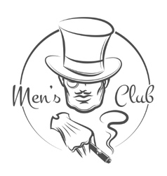 Mens Club Logo vector image