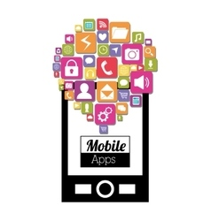 Mobile applications shop entertainment vector image
