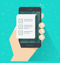 Mobile phone and checklist vector