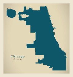 Modern map - chicago city of the usa vector
