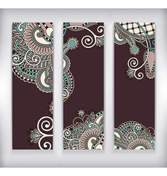 Modern ornamental banners template vector