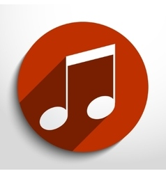 music note web icon vector image