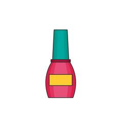 Nail polish flat icon vector