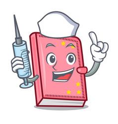 Nurse diary character cartoon style vector
