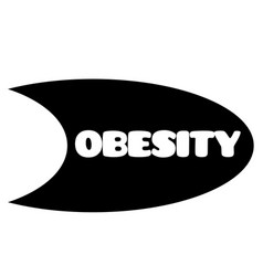 obesity stamp on white vector image