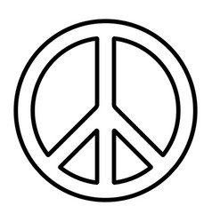 Pacific international peace symbol pacific vector