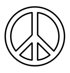 pacific international peace symbol vector image