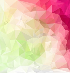 Pastel pink green polygonal triangular pattern vector