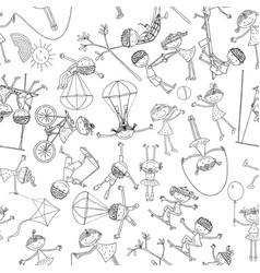 Pattern of the playfull children vector