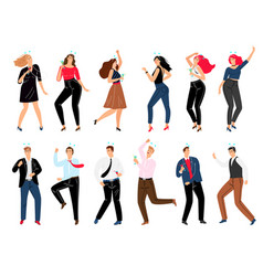 people on corporate party set vector image