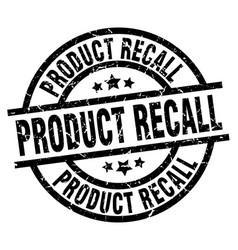 Product recall round grunge black stamp vector