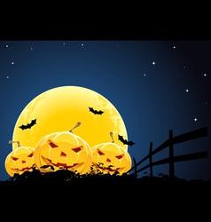 pumpkin halloween background vector image