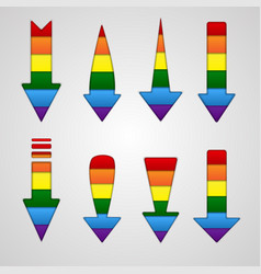 rainbow arrows lgbt community flag colors vector image