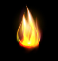 Realistic orange flame element vector